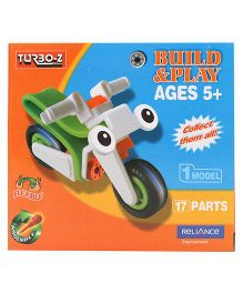 Turboz Build And Play Motorcycle Multicolour - 17 Parts