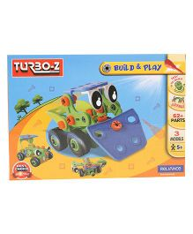 Turboz Build And Play Vehicle Set Multicolour - 62 Parts