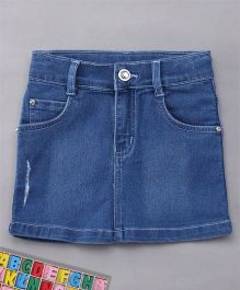 Babyhug Denim Skirt With Pockets - Blue