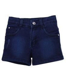 Babyhug Denim Shorts - Dark Blue