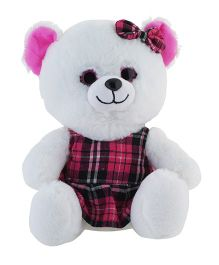 Jungly World Happy Teddy Bear White - 10 inches
