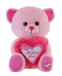 Jungly World I Love Mom Teddy Bear Pink - 10 inches