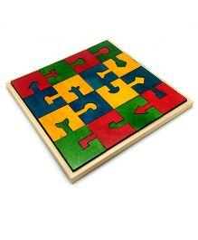 Skola Wooden Locking Blocks - Multicolor