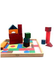 Skola Wooden Building Blocks Multicolor - 51 Pieces