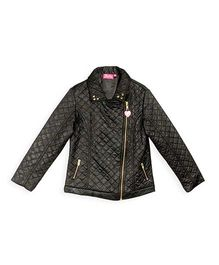 Barbie Full Sleeves Biker Jacket - Black