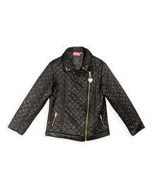 Barbie Full Sleeves Biker Jacket - Black