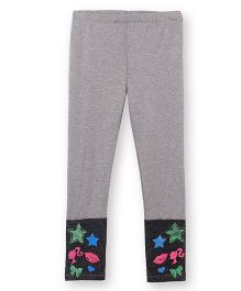 Barbie Leggings In Stretch Texture - Grey