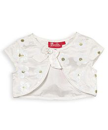 Barbie Short Sleeves Party Shrug - Off White