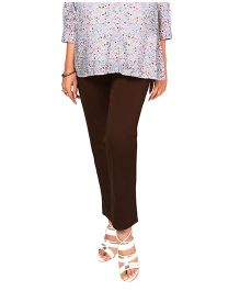 Nine Maternity Full Length Trouser - Brown