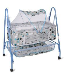 Mee Mee Cradle With Mosquito Net MM 709B - Blue