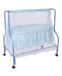 Mee Mee Cradle With Mosquito Net Smile Print MM709 - Blue
