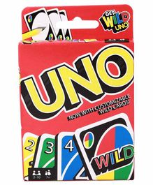 Mattel Uno Card Game With Customizable Wild Cards - Multicolor