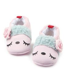 Alle Alle Shoes Style Booties Flower Motifs - Pink