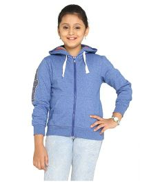 Imagica Full Sleeves Hooded Sweatshirt - Blue