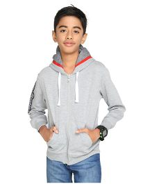 Imagica Full Sleeves Hooded Sweatshirt - Grey