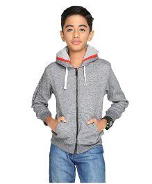 Imagica Full Sleeves Hooded Sweatshirt - Dark Grey