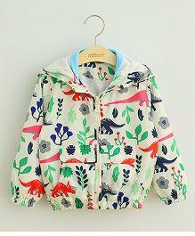 Teddy Guppies Full Sleeves Hooded Jacket Printed - Multi Color