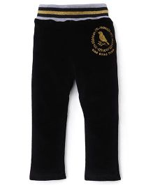 Play by Little Kangaroos Thermal Bottoms Bird Print - Black