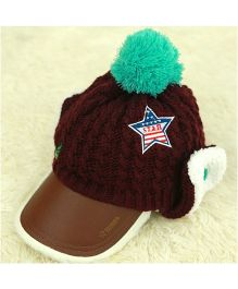 Tipy Tipy Tap Boys Hat With Warm Ear Covers - Brown