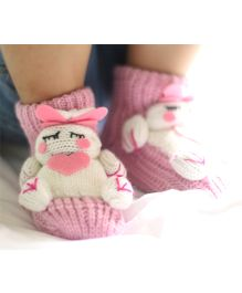 Tipy Tipy Tap Cute Doll Non Skid Children 3D Floor Socks - Pink