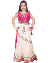 Betty By Tiny Kingdom Lehenga Choli Set - Pink