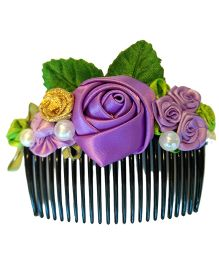 Keira's Pretties Floral Hair Comb Pin - Purple