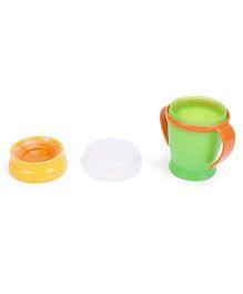Lovi 360 Cup With Handles Junior Orange Green - 210 ml