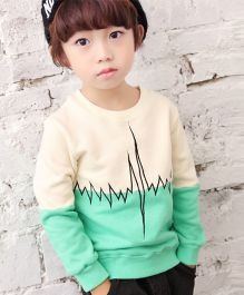 Petite Kids Cool Dual Shade Sweat Shirt - Beige