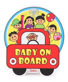 Blossom Child Proofing Baby On Board Sign Board - Multi Color
