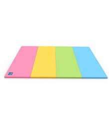 Alzip Color Folder Super Grand Smart Play Mat - Pink Yellow Green Blue