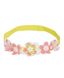 A Little Fable 3D Floral Headband - Yellow