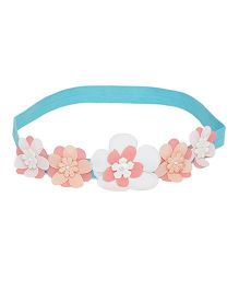 A Little Fable 3D Floral Headband - Blue