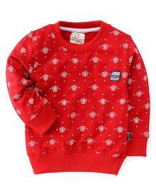 Olio Full Sleeves Winter T-Shirt - Red