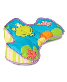 Taf Toys Developmental Pillow - Blue And Yellow