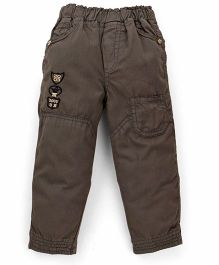 Olio Kids Full Length Solid Color Trouser - Dark Olive Green