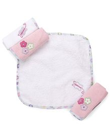 Abracadabra Face Towels Set of 4 - Pink