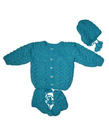 GoCuddle By Jasleen Cozy Baba Suit - Teal Blue