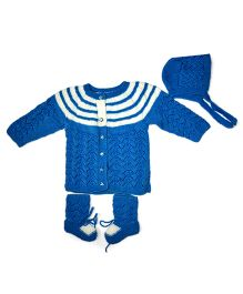 GoCuddle By Jasleen Dual Shade Warm Baba Suit - Blue & White