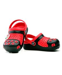 Kidsmojo Angry Birds Clogs For Kids - Black & Red