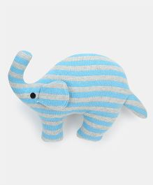 Pluchi Noah - The Elephant Knitted Toy Blue - 17 cm