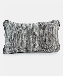 Pluchi The Black Beauty Knitted Cushion Cover - Grey