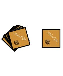 The Joy Factory Anniversary Thank You Tags - Gold & Black