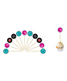 The Joy FactoryLast Fling Before The Ring Bachelorette Cupcake Toppers - Multicolour