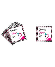 The Joy Factory Flamingo St & Tall Darling Thank You Tags - Multicolour