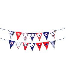 The Joy Factory Nautical It's A Boy Banner - Multicolour