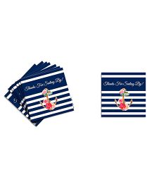 The Joy Factory  Nautical Floral Let'S Celebrate Thank You Tags - Blue