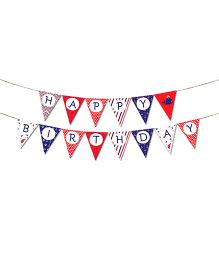 The Joy Factory Nautical Birthday Banner - Multicolour
