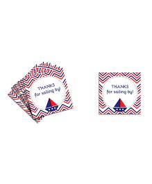 The Joy Factory  Nautical Birthday Thank You Tags - Blue & Red