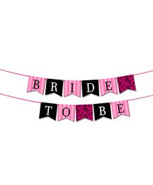 The Joy Factory Bride To Be Banner - Pink & Black