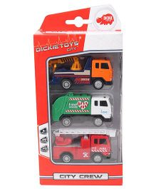 Dickie City Crew Trucks Pack Of 3 - Multicolor